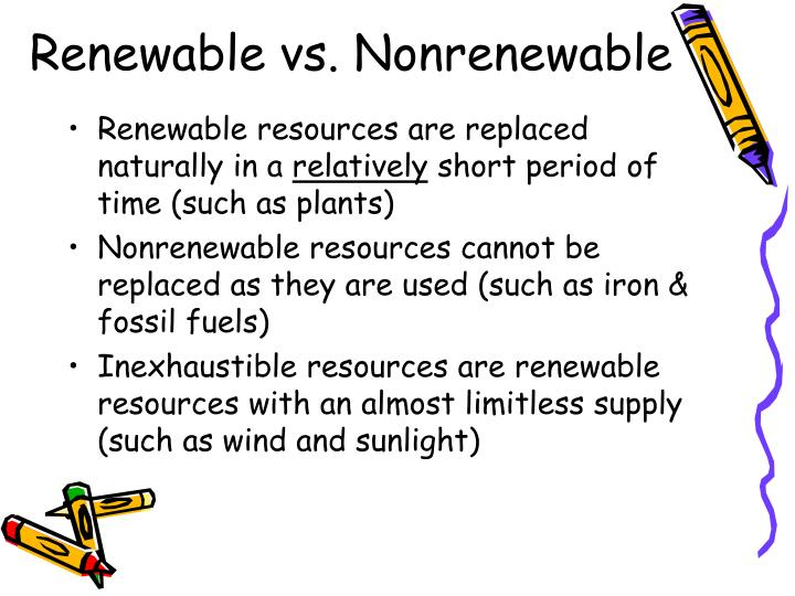 Renewable vs. Nonrenewable