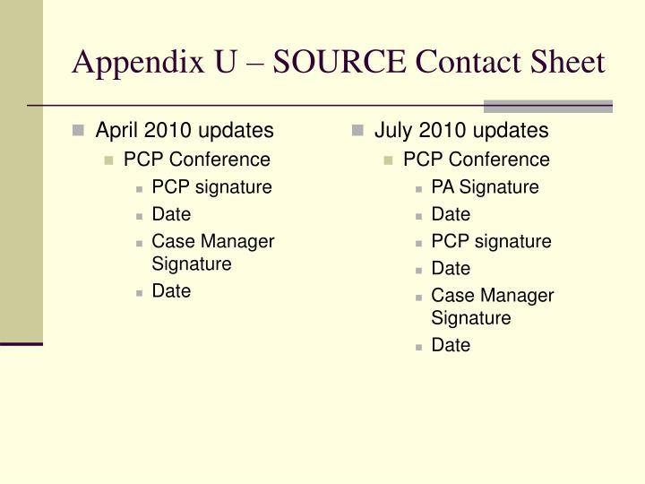 April 2010 updates