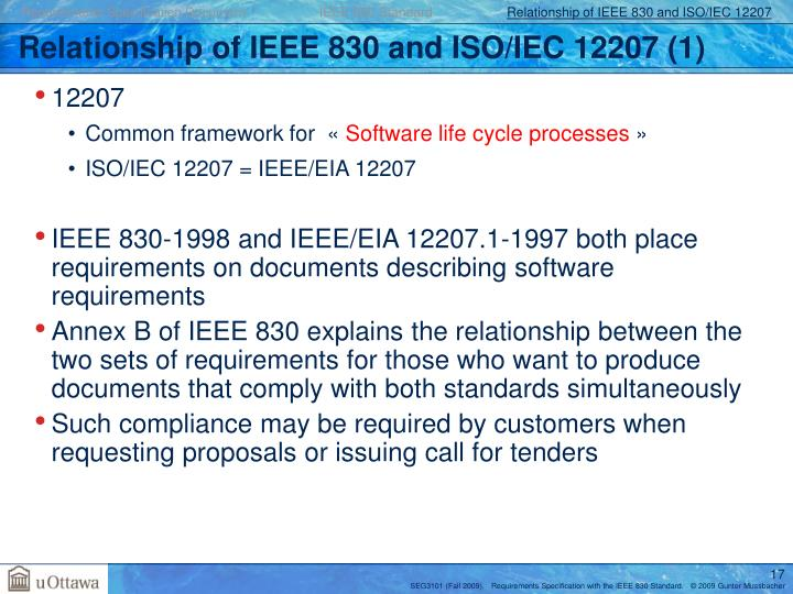 Requirements Specification Document                    IEEE 830 Standard