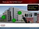 does your mlts pbx know