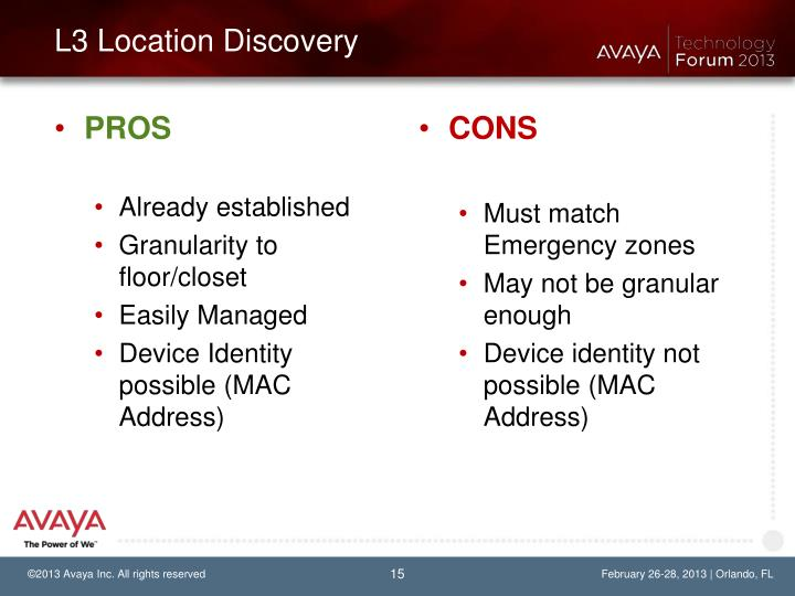L3 Location Discovery