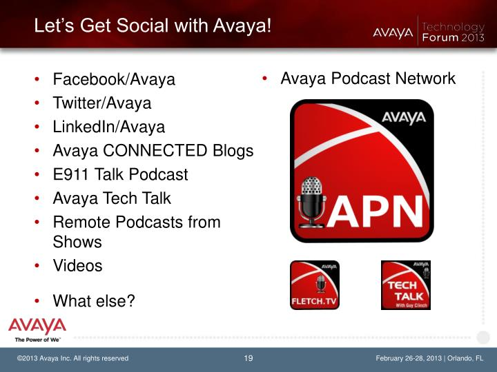 Let's Get Social with Avaya!