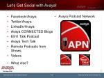 let s get social with avaya