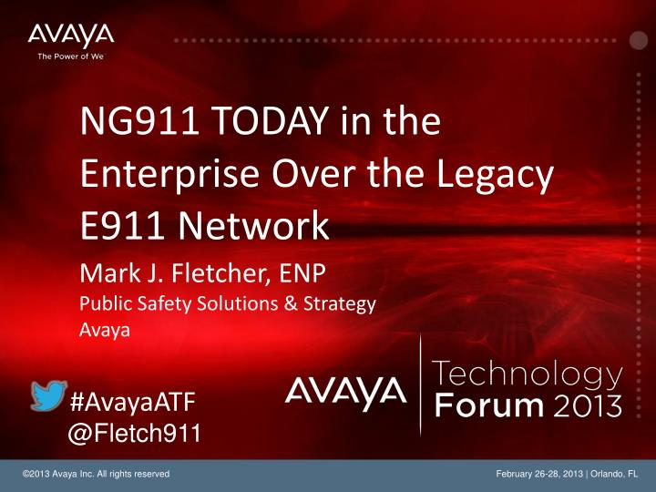 Ng911 today in the enterprise over the legacy e911 network