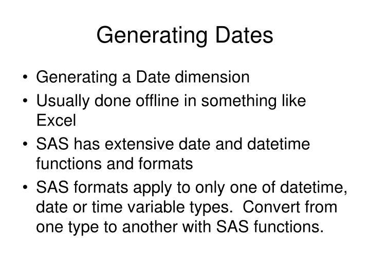 Generating Dates