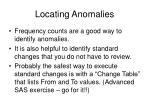 locating anomalies