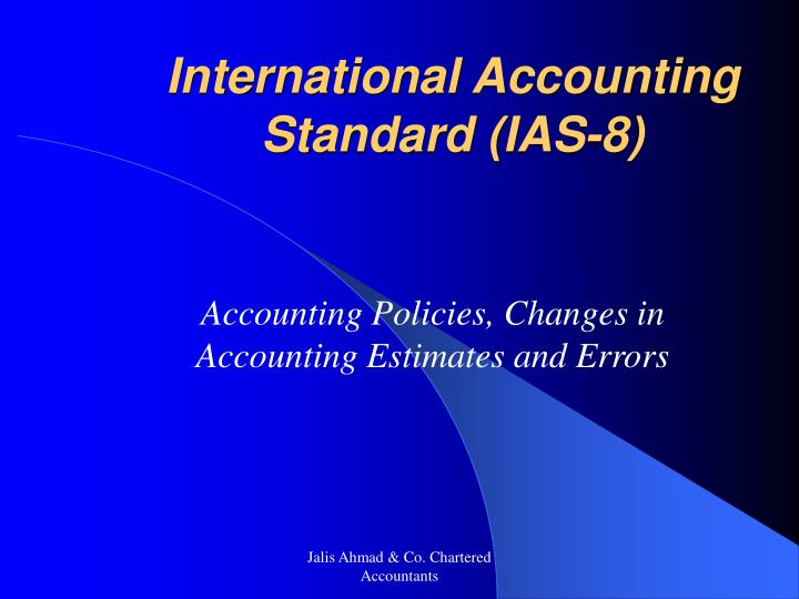 International accounting standard ias 8