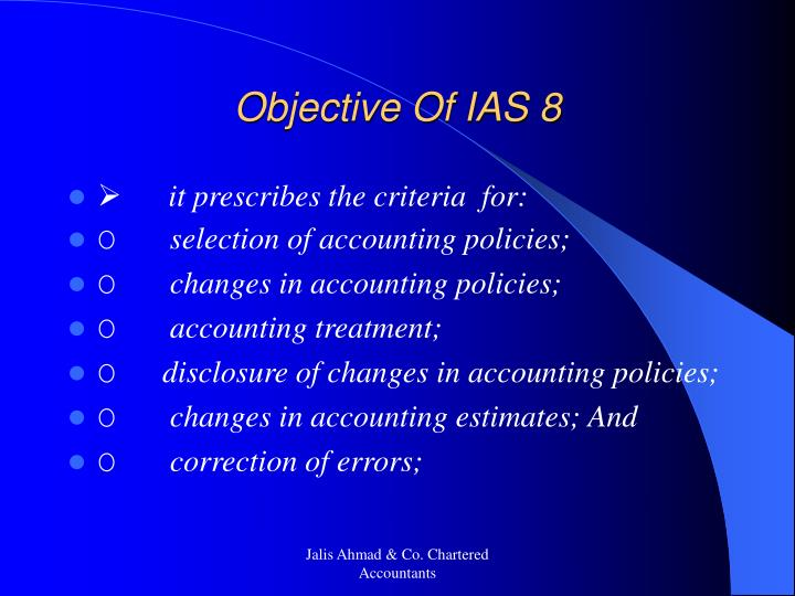Objective of ias 8