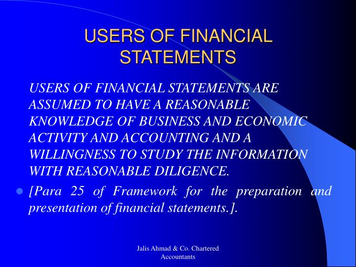 USERS OF FINANCIAL STATEMENTS