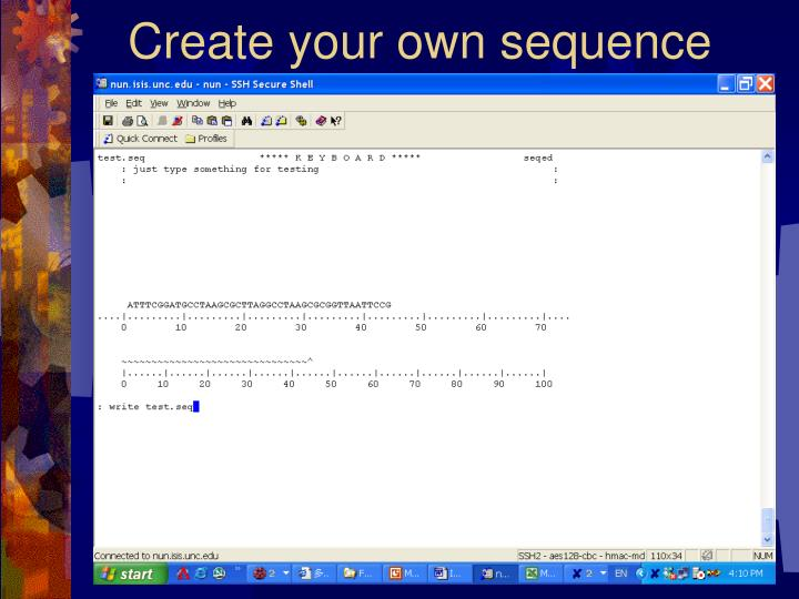 Create your own sequence