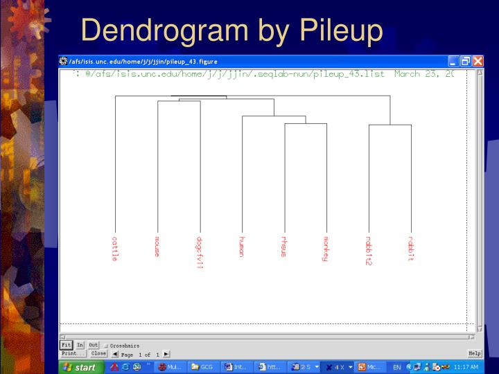 Dendrogram by Pileup