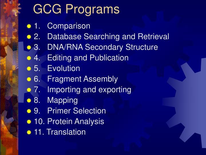 GCG Programs