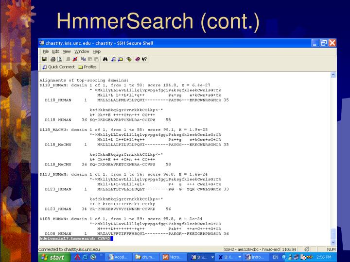 HmmerSearch (cont.)