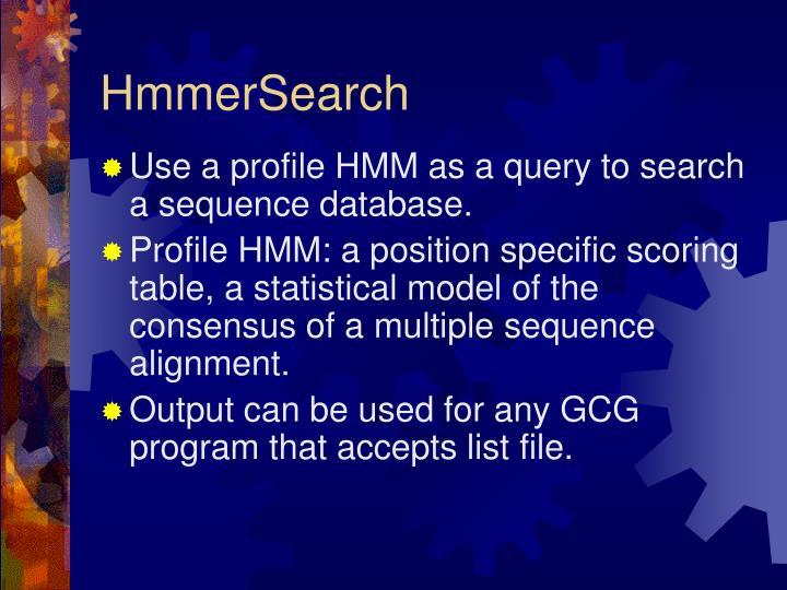 HmmerSearch