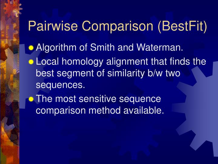 Pairwise Comparison (BestFit)