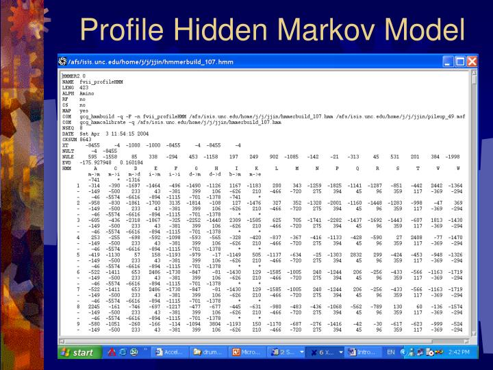 Profile Hidden Markov Model