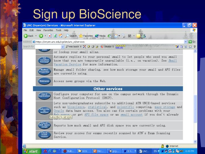 Sign up BioScience