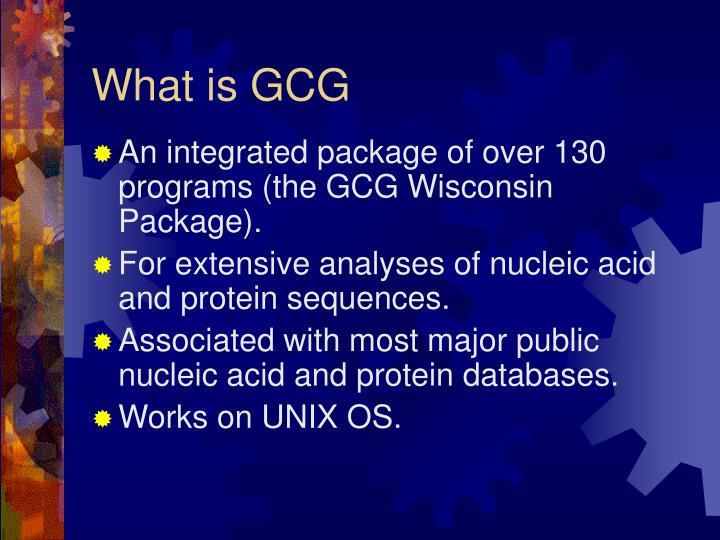 What is gcg