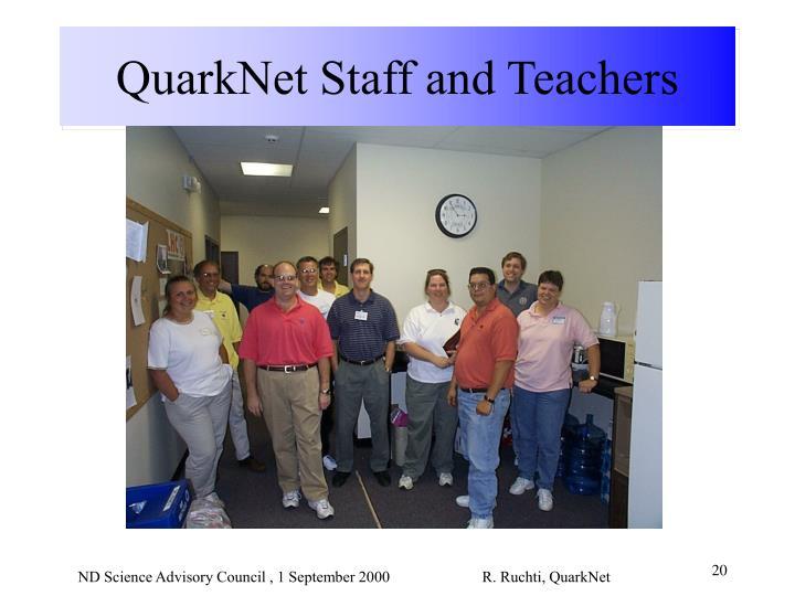 QuarkNet Staff and Teachers