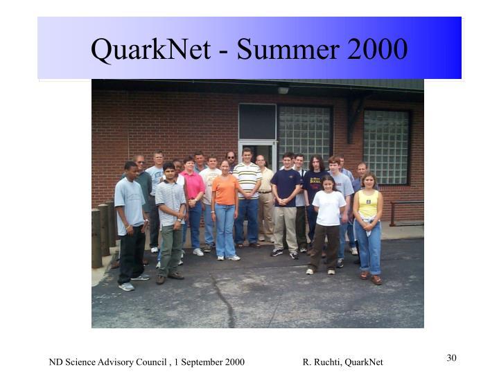 QuarkNet - Summer 2000