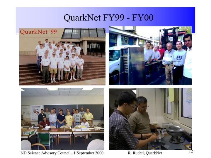 QuarkNet FY99 - FY00