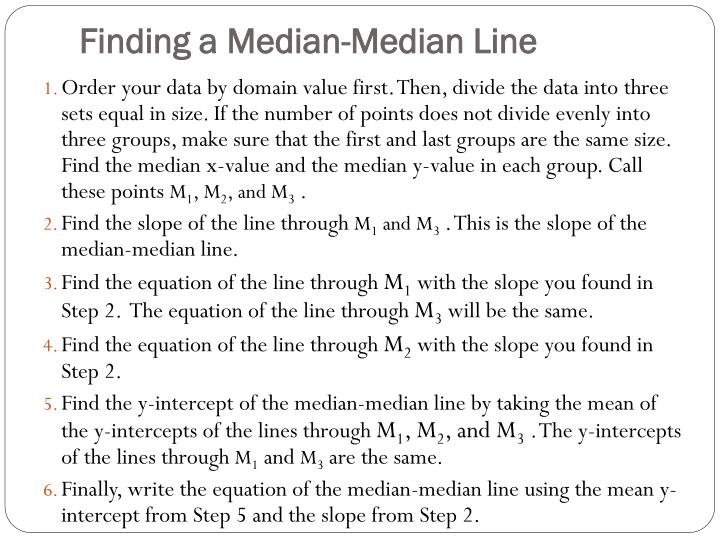 Finding a Median-Median Line