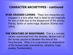 character archetypes continued3