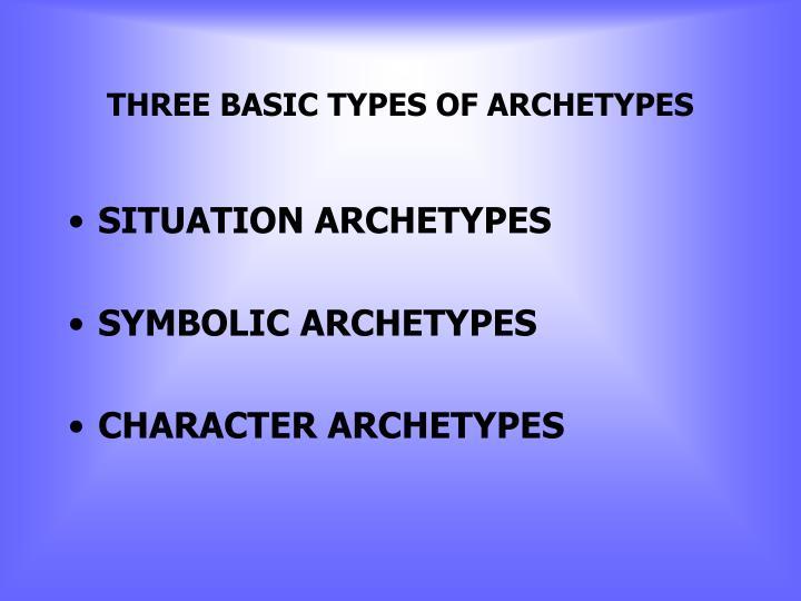 THREE BASIC TYPES OF ARCHETYPES
