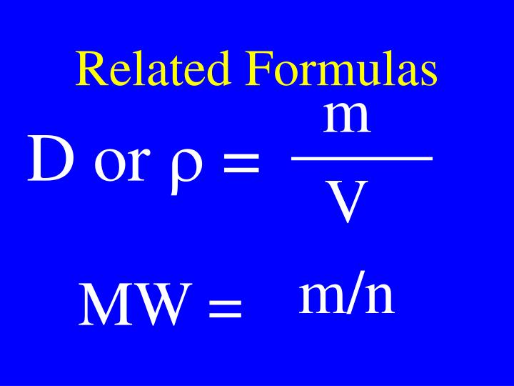 Related Formulas