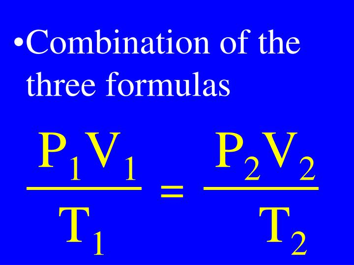 Combination of the three formulas