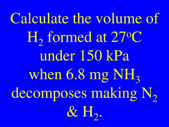 Calculate the volume of H
