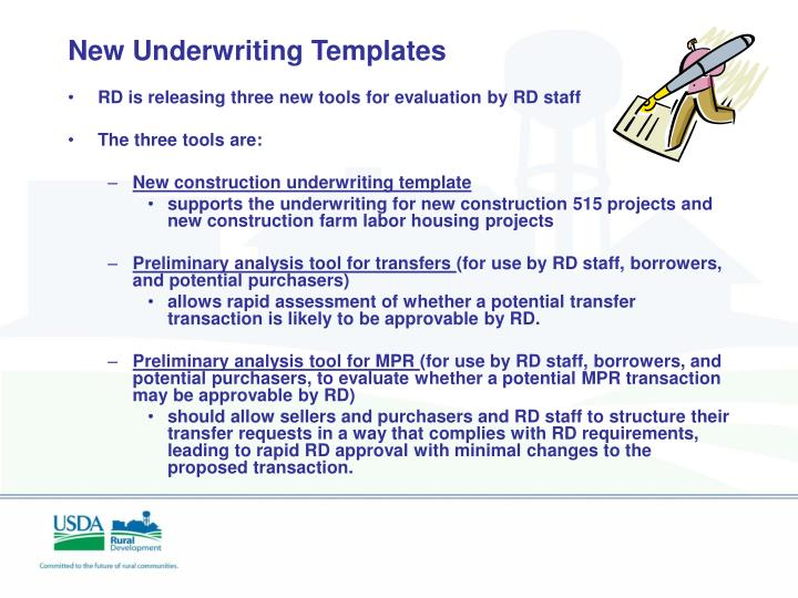 New Underwriting Templates