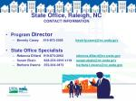 state office raleigh nc contact information