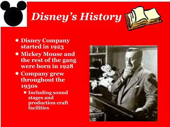 Disney's History