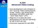 h 264 advanced video coding