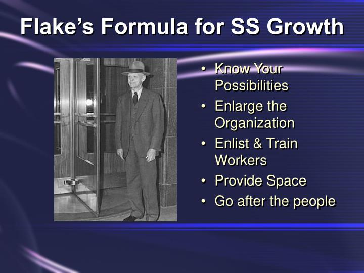 Flake's Formula for SS Growth