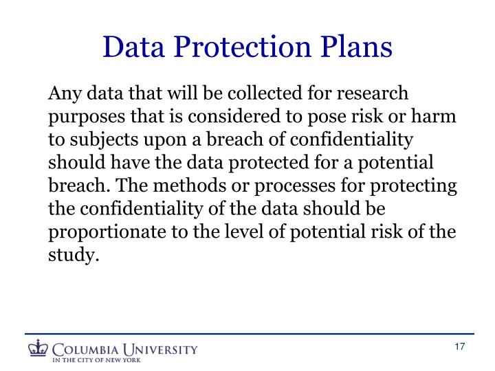 Data Protection Plans