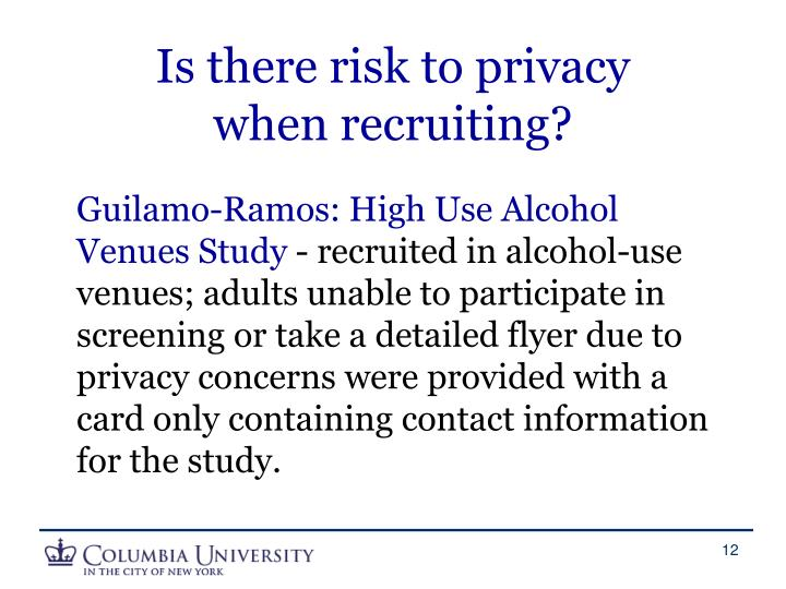 Is there risk to privacy