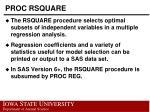 proc rsquare
