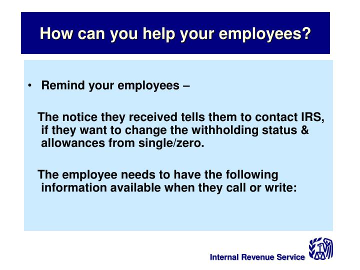 How can you help your employees?