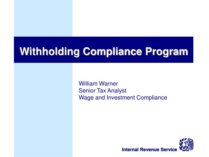 Withholding Compliance