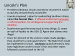 lincoln s plan