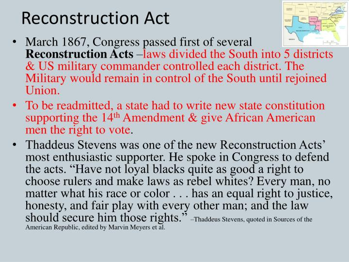 Reconstruction Act