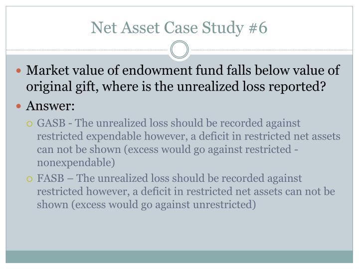 Net Asset Case Study #6