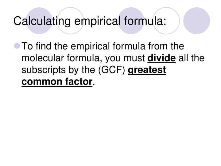 Calculating empirical formula: