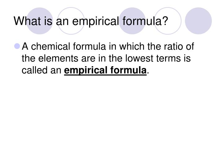 What is an empirical formula