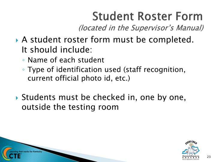 Student Roster Form
