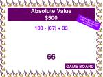 absolute value 500