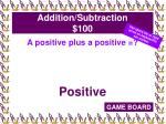 addition subtraction 100