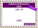 addition subtraction 400